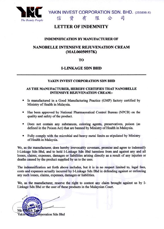 Letter of indemnity peopledavidjoel letter of indemnity spiritdancerdesigns Images